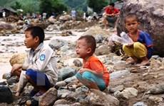 Chuyên gia UNICEF khảo sát tình hình trẻ em trong vùng bị bão số 12