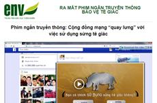 'Cộng đồng mạng quay lưng với việc sử dụng sừng tê giác'