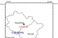 Tiếp tục xảy ra trận động đất cường độ 3,8 tại tỉnh Cao Bằng