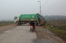 Vụ chặn xe vào bãi rác Nam Sơn: Đã khai thông sau cuộc họp khẩn