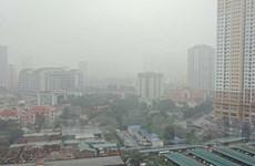 """Mưa phùn giảm, chất lượng ô nhiễm không khí ở Hà Nội lại """"xấu"""""""