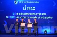 TTXVN nhận 4 giải thưởng Giải báo chí tài nguyên và môi trường