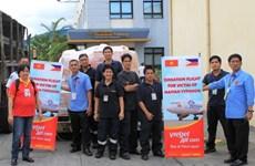 VietjetAir chở người Việt ở Philippines về nước sau bão