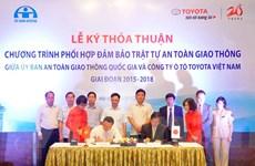 Toyota Vietnam ký thỏa thuận phối hợp an toàn giao thông 2015-2018
