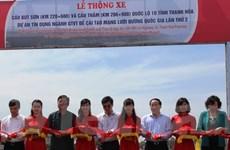 Thông xe cầu Bút Sơn và cầu Thắm trên Quốc lộ 10 qua Thanh Hóa