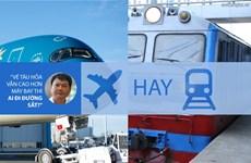 """Bộ trưởng Thăng: """"Vé tàu hỏa mà cao hơn máy bay thì ai đi?"""""""
