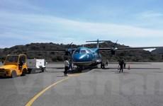 Tàu bay ATR của VASCO bị xe chở hàng va quệt làm móp cửa trước