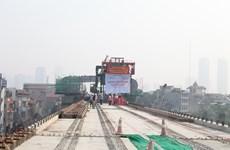 [Photo] Có thể đi bộ trên cao dọc tuyến đường sắt Cát Linh-Hà Đông