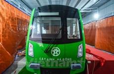 Đầu máy, toa xe đường sắt đô thị Cát Linh-Hà Đông về tới Việt Nam