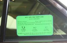 Ôtô từ 7-9 chỗ ngồi phải dán nhãn năng lượng từ đầu năm 2018