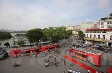 Tuyến buýt 2 tầng mui trần chính thức lăn bánh đường phố Hà Nội