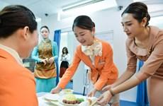 Sinh viên Hàn Quốc trải nghiệm một ngày làm tiếp viên hàng không
