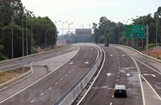 Phân làn giao thông nút giao Chu Lai cao tốc Đà Nẵng-Quảng Ngãi