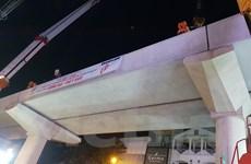 Hợp long đoạn tuyến trên cao dự án đường sắt đô thị Nhổn-Ga Hà Nội
