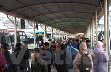 Bến xe đông, đường tắc nghẽn vì người dân về quê nghỉ Tết Dương lịch