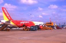 Tàu bay Vietjet Air bị bong ốp cánh sau khi hạ xuống sân bay Cát Bi