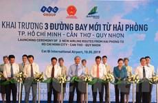 Thủ tướng Chính phủ cắt băng khai trương 3 đường bay từ Hải Phòng