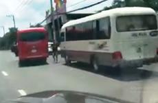 Xử lý nghiêm 2 xe khách phóng nhanh, đánh võng, chèn ép, tạt đầu nhau