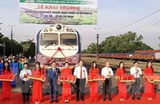Đường sắt chạy thêm đoàn tàu container nhanh hành trình 40 tiếng