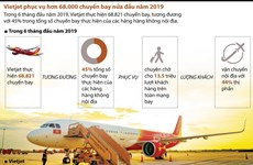 [Infographics] Vietjet chiếm 44% thị phần 'cõng' khách bay nội địa