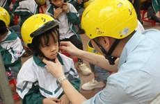 Tỷ lệ đội mũ bảo hiểm đạt chuẩn ở trẻ em đã tăng lên nhiều lần