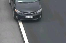 Xe ôtô con đi lùi gần 6km trên đường cao tốc Hà Nội-Hải Phòng