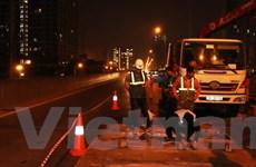 Hà Nội: Tạm dừng thi công sửa chữa khe co giãn đường vành đai 3