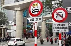 Hà Nội sẽ cắm lại biển cấm xe hợp đồng dưới 9 chỗ ở 10 tuyến phố