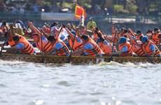 550 vận động viên tranh tài giải đua thuyền rồng Hà Nội mở rộng