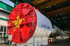 Lắp đặt hoàn thiện máy đào hầm của metro đoạn Nhổn-ga Hà Nội