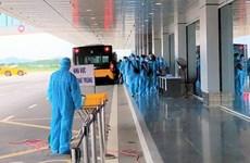 Sân bay Vân Đồn khoanh vùng, truy vết, ngăn ngừa lây nhiễm COVID-19