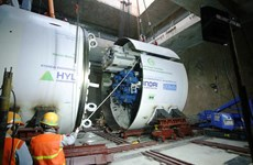 Vận hành chạy thử xong robot đào hầm đường sắt đô thị Nhổn-ga Hà Nội