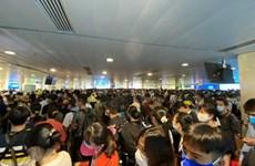 Khách nên đến sớm sân bay Tân Sơn Nhất và làm thủ tục trực tuyến