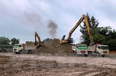 Cao tốc đoạn Mai Sơn-Quốc lộ 45 thiếu vật liệu thi công và bãi đổ thải