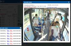 Dùng camera lắp trên xe khách để phát hiện người không đeo khẩu trang