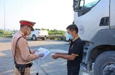 Không kiểm tra giấy xét nghiệm COVID-19 đối với lái xe chở hàng hóa