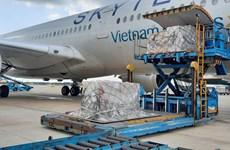Chuyến bay 'cõng' 203.000 bộ xét nghiệm nhanh từ Đức đã tới TP.HCM