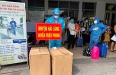 Đoàn tàu chuyên biệt đưa 420 hành khách từ TP.HCM về Quảng Trị