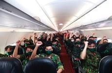 Máy bay Vietjet chuyên chở các chiến sỹ vào Nam hỗ trợ chống dịch