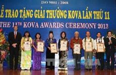 12 cá nhân và 4 tập thể xuất sắc nhận Giải thưởng KOVA