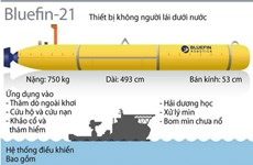[Infographics] Thiết bị lặn Bluefin-21 tìm kiếm máy bay mất tích