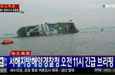 [Infographics] Chìm phà chở 450 người ngoài khơi Hàn Quốc