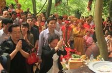 Hàng nghìn du khách dự lễ khai hội đền Trần Ninh Bình