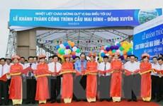 Khánh thành cầu Mai Đình-Đông Xuyên nối liền Bắc Giang và Bắc Ninh