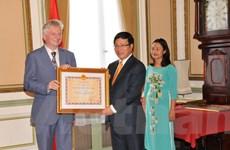 Trao Huân chương Hữu nghị cho một số nhà ngoại giao của Bỉ