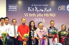 Nhà Hà Nội học 100 tuổi nhận Giải thưởng lớn-Vì tình yêu Hà Nội