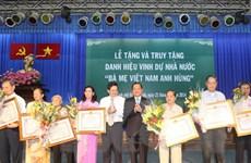 TP.HCM phong tặng, truy tặng danh hiệu Mẹ Việt Nam anh hùng