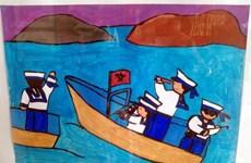 Cậu bé dân tộc Nùng đoạt giải A vẽ tranh ''Em yêu chú bộ đội''