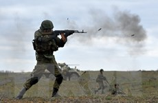 Quân đội Nga tập trận gần các đảo tranh chấp với Nhật Bản