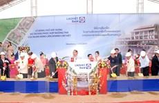 LaoVietBank tổ chức động thổ Khu phức hợp Noongtha ở Vientiane